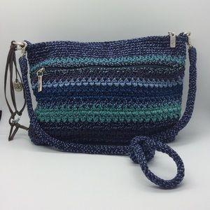 The Sak- Lucia Crochet Crossbody purse Like New!